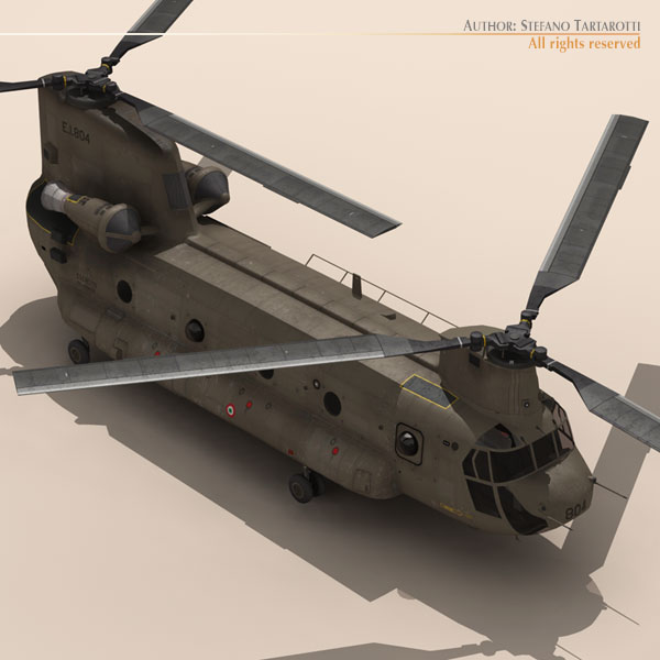 ch-47 esercito italiano helicopter 3d model 3ds dxf fbx c4d dae obj 118598