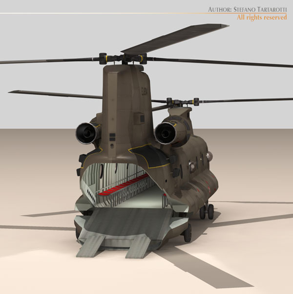 ch-47 esercito italiano helicopter 3d model 3ds dxf fbx c4d dae obj 118599