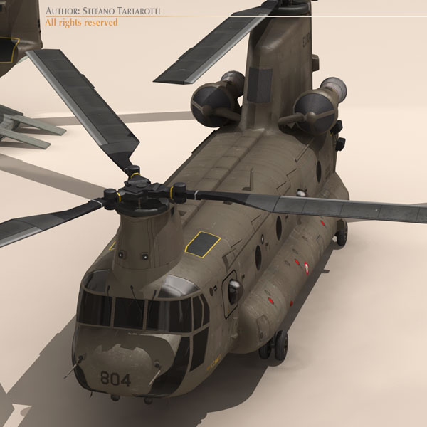 ch-47 esercito italiano helicopter 3d model 3ds dxf fbx c4d dae obj 118600