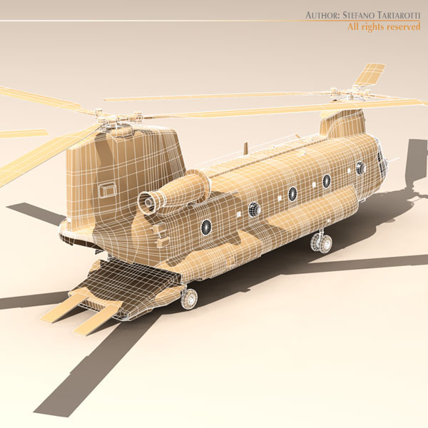 ch-47 esercito italiano helicopter 3d model 3ds dxf fbx c4d dae obj 118602