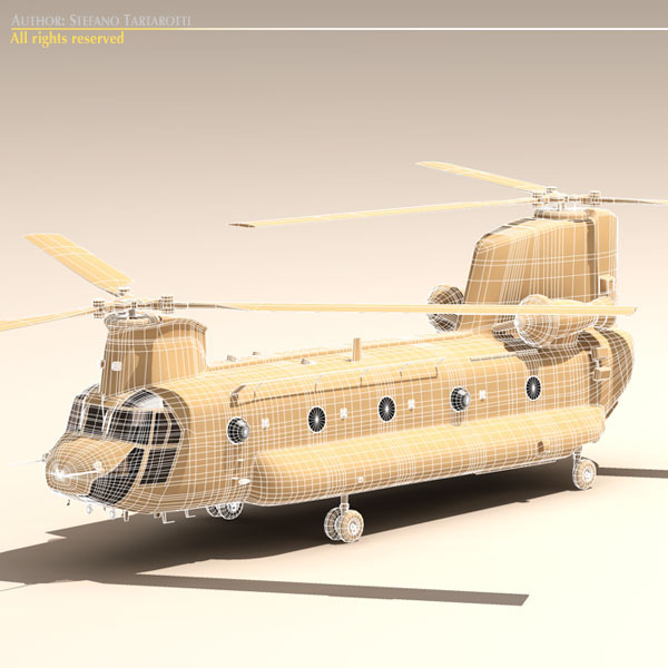 ch-47 esercito italiano helicopter 3d model 3ds dxf fbx c4d dae obj 118603