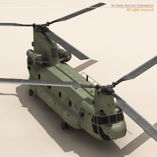 ch-47 raf helicopter 3d model 3ds dxf fbx c4d dae obj 118676