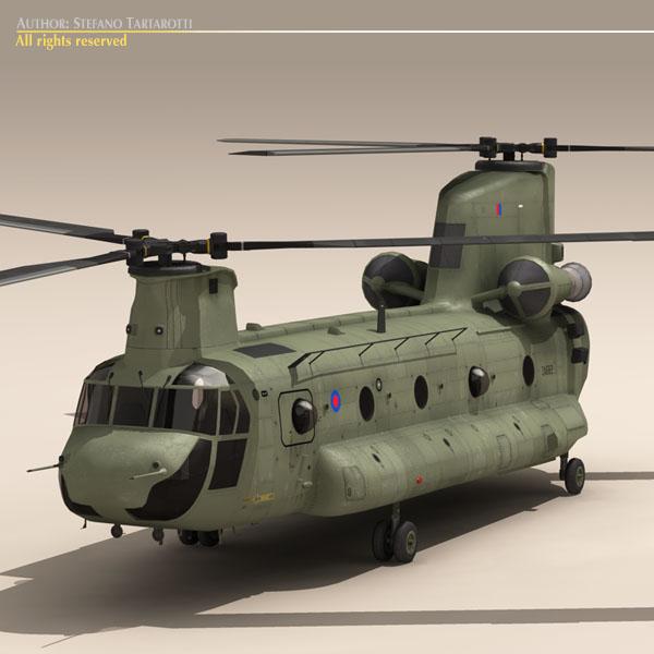 ch-47 raf helicopter 3d model 3ds dxf fbx c4d dae obj 118677