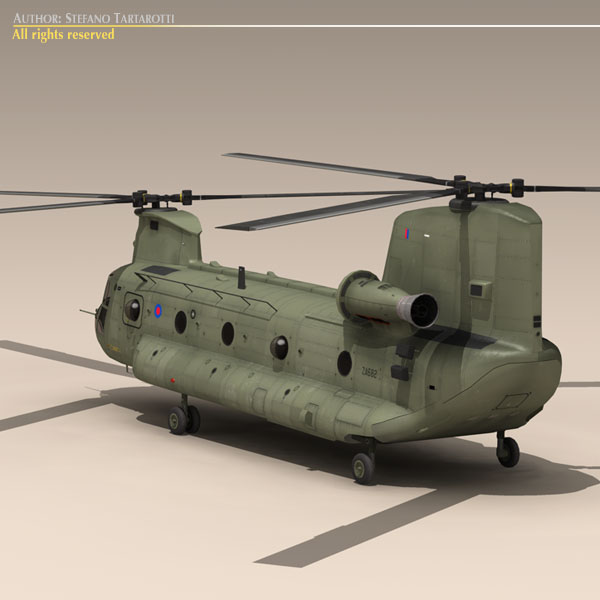 ch-47 raf helicopter 3d model 3ds dxf fbx c4d dae obj 118678
