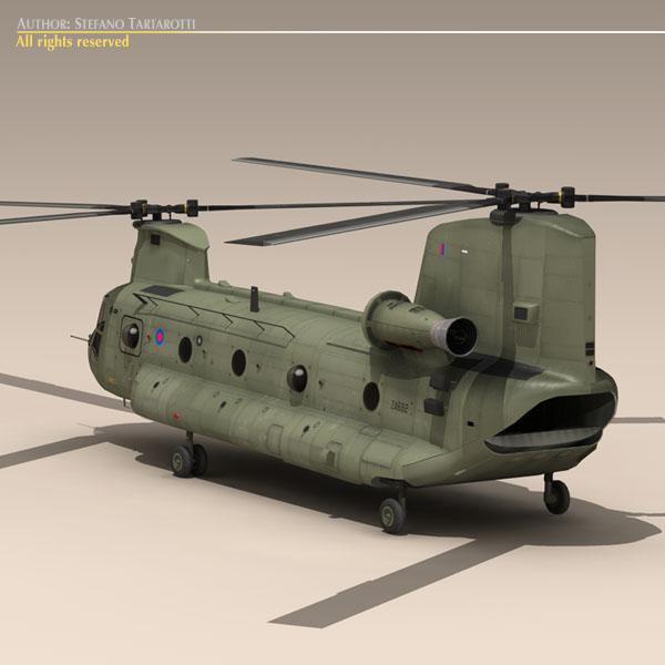 ch-47 raf helicopter 3d model 3ds dxf fbx c4d dae obj 118679
