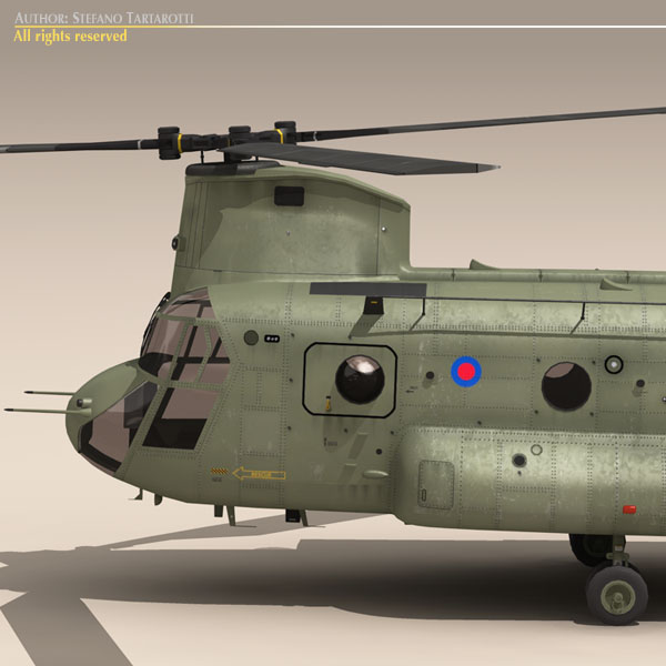 ch-47 raf helicopter 3d model 3ds dxf fbx c4d dae obj 118681