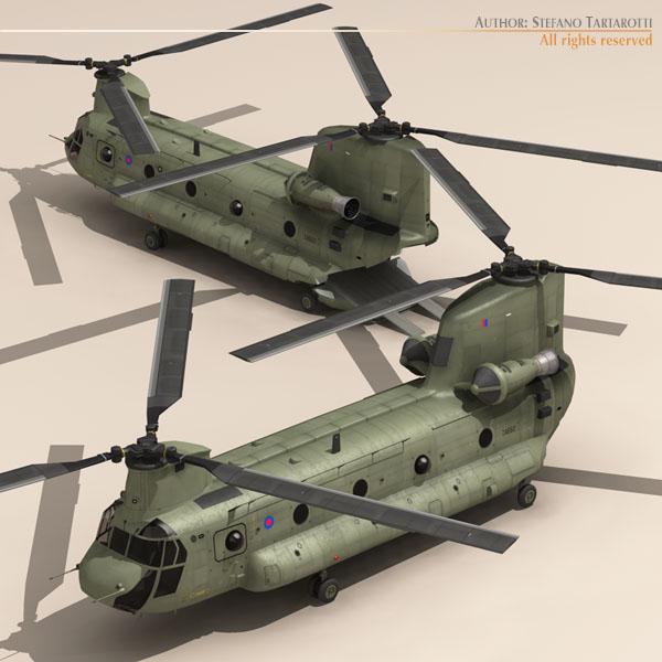 ch-47 raf helicopter 3d model 3ds dxf fbx c4d dae obj 118682