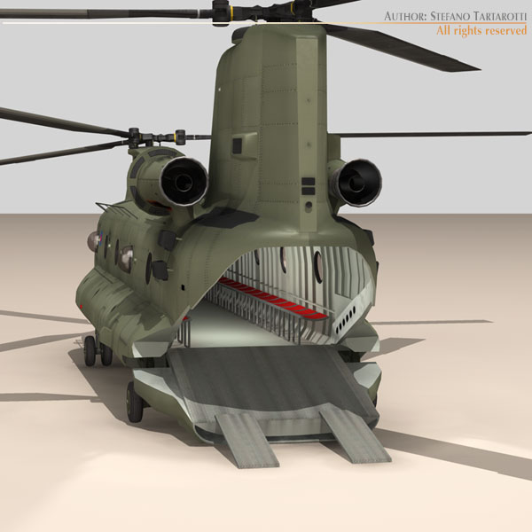 ch-47 raf helicopter 3d model 3ds dxf fbx c4d dae obj 118683