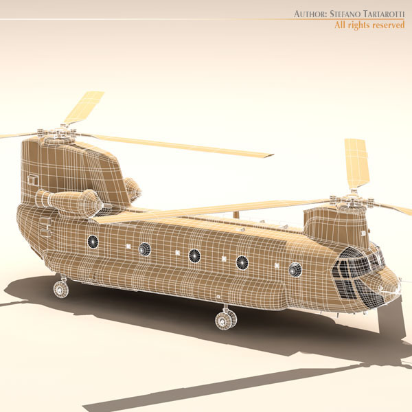 ch-47 raf helicopter 3d model 3ds dxf fbx c4d dae obj 118687