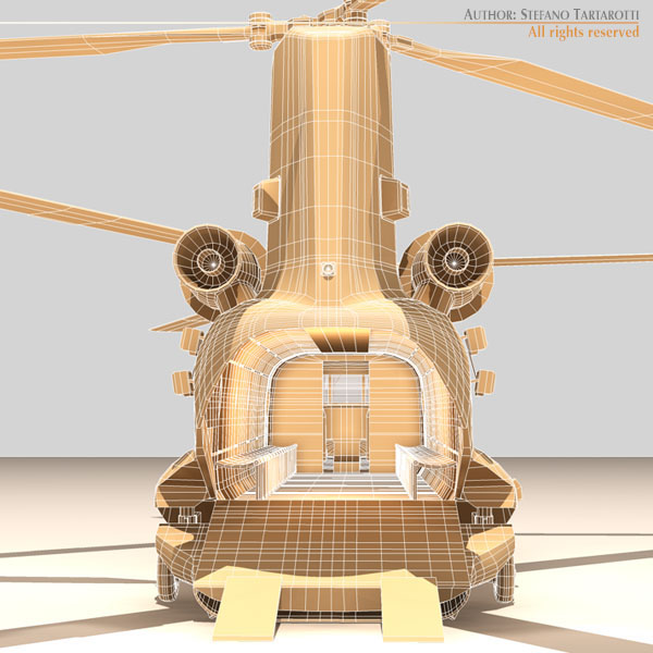 ch-47 raf helicopter 3d model 3ds dxf fbx c4d dae obj 118688