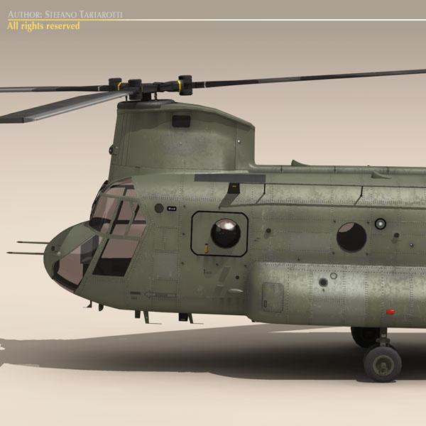 ch-47 us army 3d model 3ds max dxf fbx c4d dae ma mb obj 118578