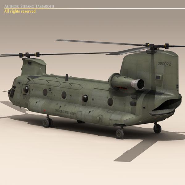 ch-47 us army 3d загвар 3ds max dxf fbx c4d 118580