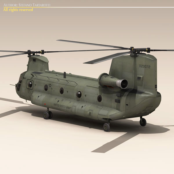 ch-47 us army 3d загвар 3ds max dxf fbx c4d 118581