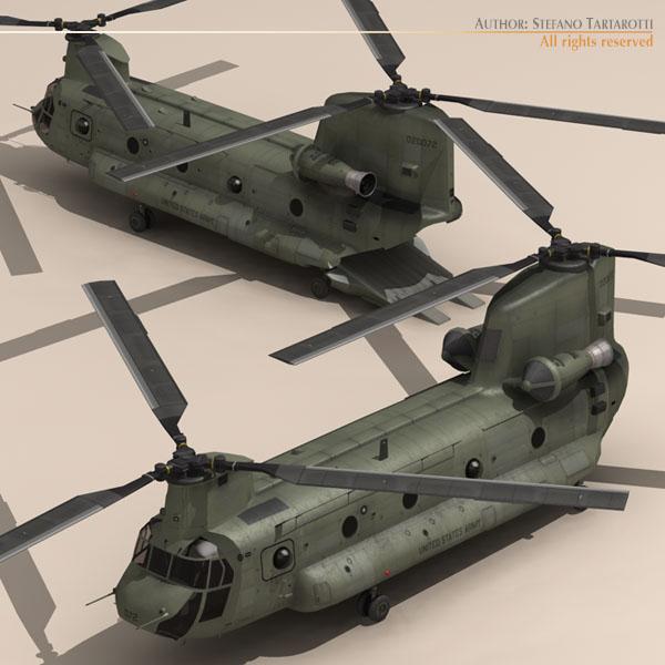 ch-47 us army 3d загвар 3ds max dxf fbx c4d 118582