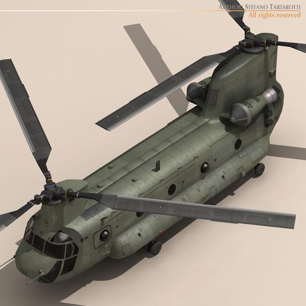 ch-47 us army 3d загвар 3ds max dxf fbx c4d 118583