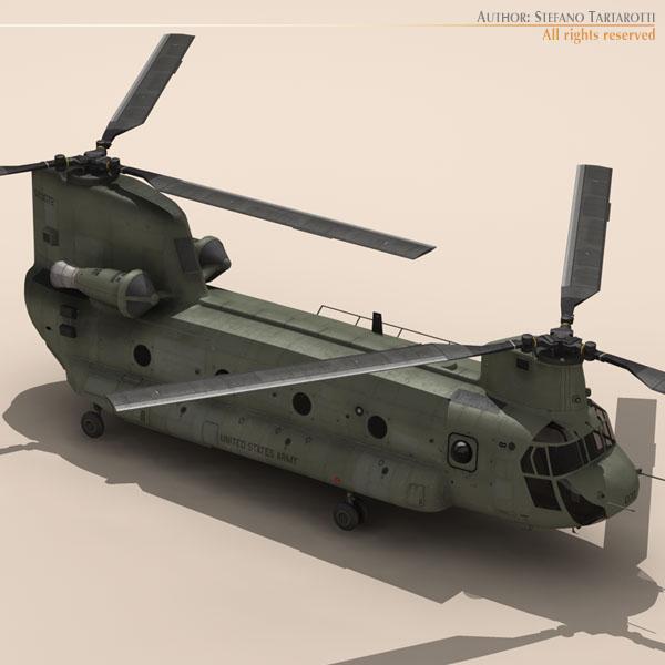 ch-47 us army 3d загвар 3ds max dxf fbx c4d 118584