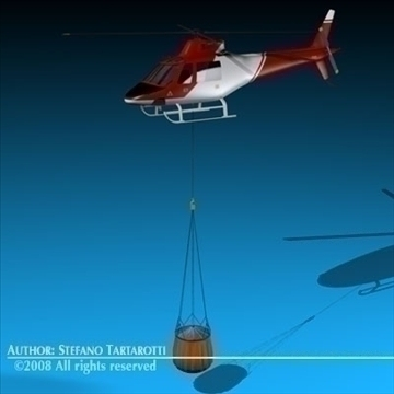 firefighting helicopter 3d model 3ds dxf c4d obj 86921