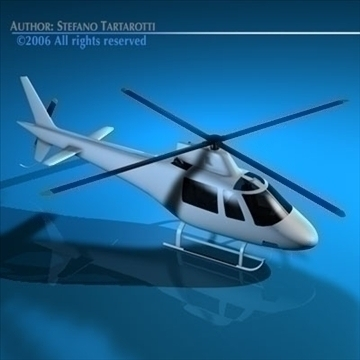 generic helicopter 3d model 3ds dxf c4d obj 84745