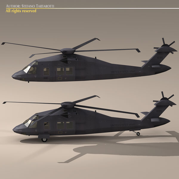 mh60 stealth blackhawk 3d model 3ds max dxf fbx c4d obj 116382