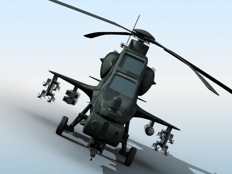 z-10 chinese attack helicopter 3d model 3ds max fbx obj 123375