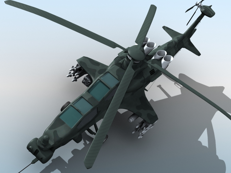 z-10 chinese attack helicopter 3d model 3ds max fbx obj 123380