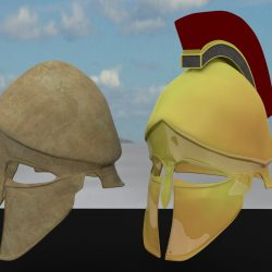 3D Model Ancient Greek Corinthian Helmets ( 253.49KB jpg by forestdino )