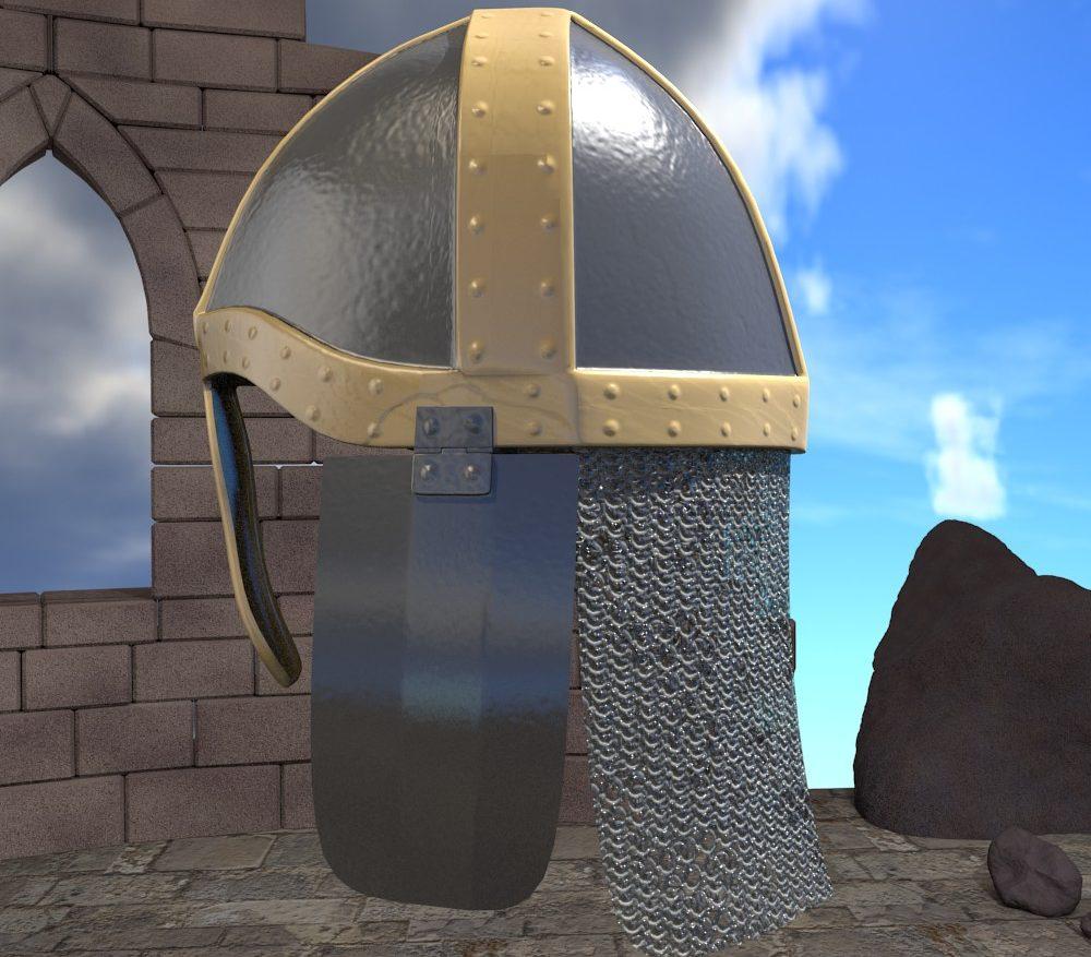 3D Model Medieval Knight Helmet ( 208.98KB jpg by forestdino )