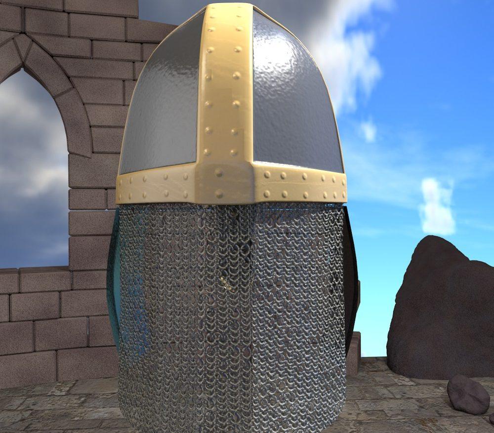 3D Model Medieval Knight Helmet ( 241.97KB jpg by forestdino )
