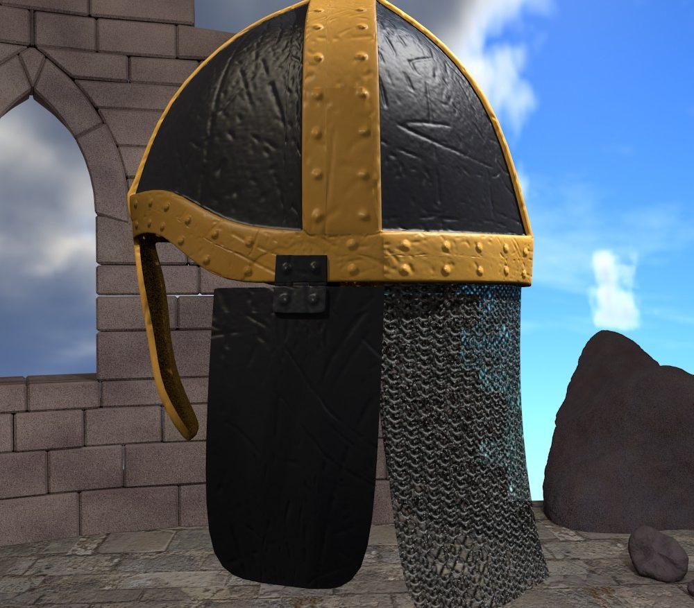 3D Model Medieval Knight Helmet ( 209.23KB jpg by forestdino )