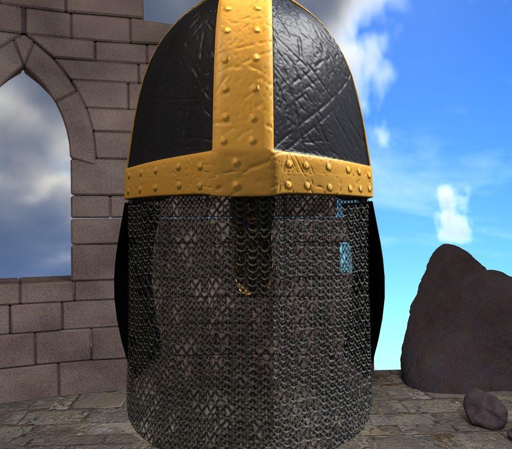 3D Model Medieval Knight Helmet ( 237.97KB jpg by forestdino )