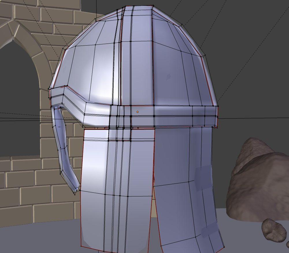 3D Model Medieval Knight Helmet ( 121.75KB jpg by forestdino )