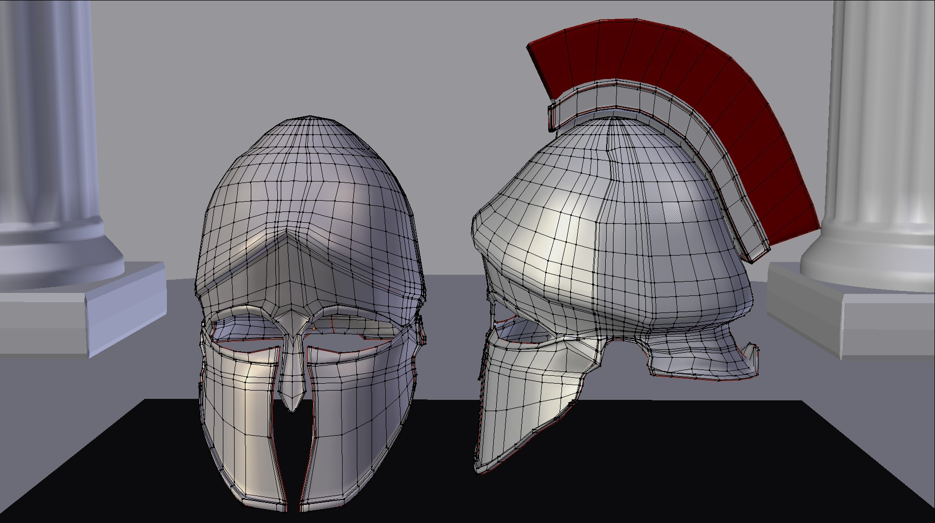 helm kuno corinthian helm 3d model fbx blend dae obj 118118