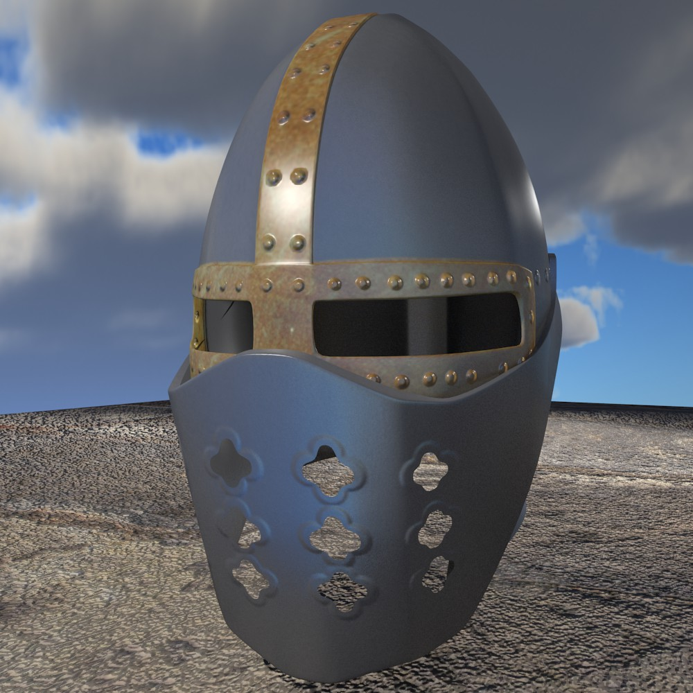 model helmet salib 3d model fbx blend dae obj 118065