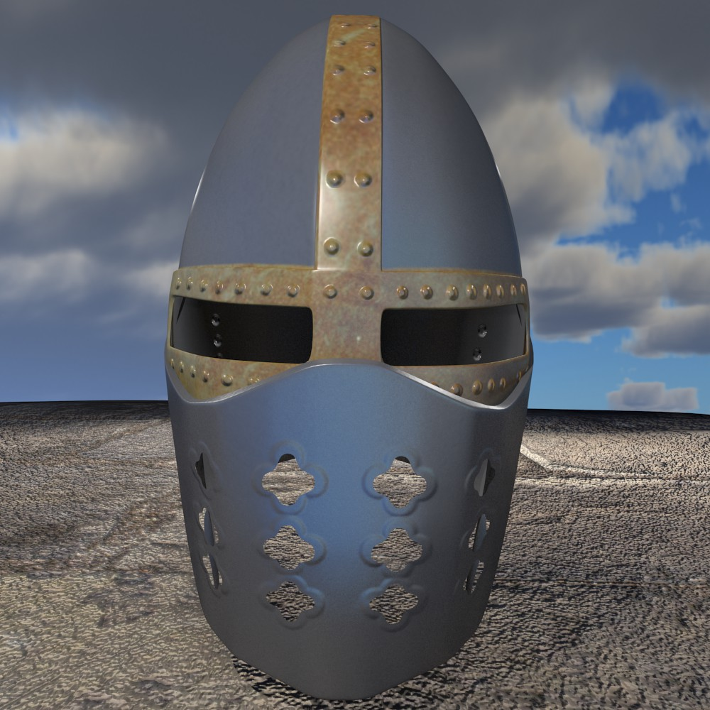 crusader ķivere 3d modelis fbx maisījums dae obj 118066
