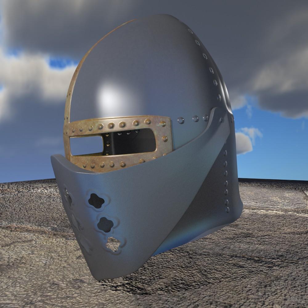 Haçlı kaskası 3d modeli fbx qarışığı daim obj 118067