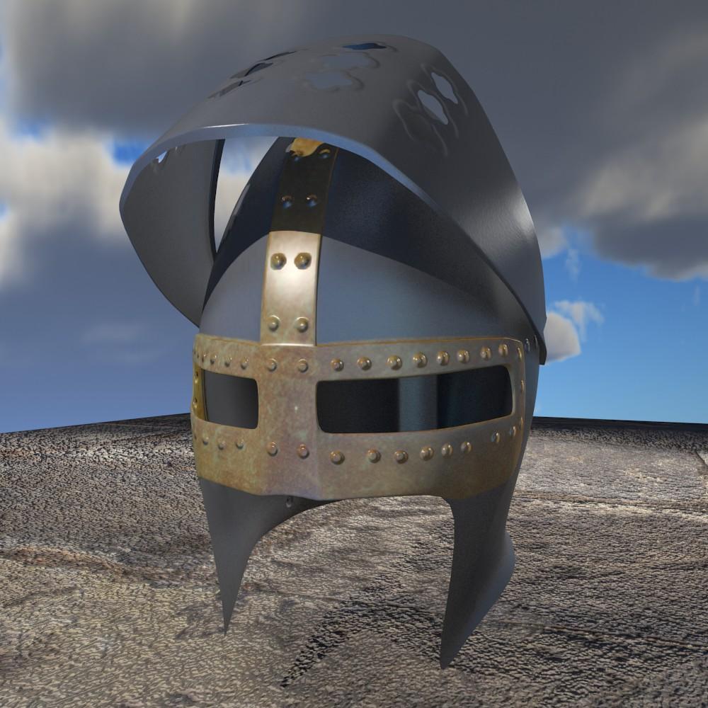 Haçlı kaskası 3d modeli fbx qarışığı daim obj 118068