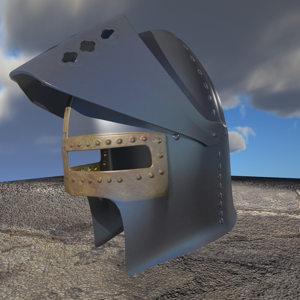 Haçlı kaskası 3d modeli fbx qarışığı daim obj 118069