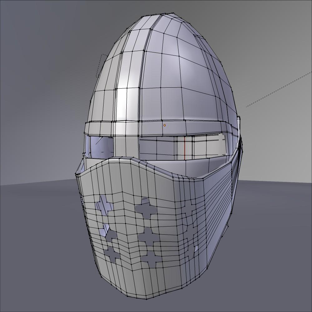 Haçlı kaskası 3d modeli fbx qarışığı daim obj 118070