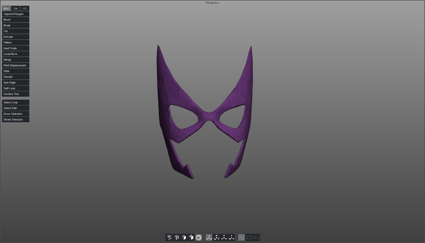huntress mask 3d model obj 117124