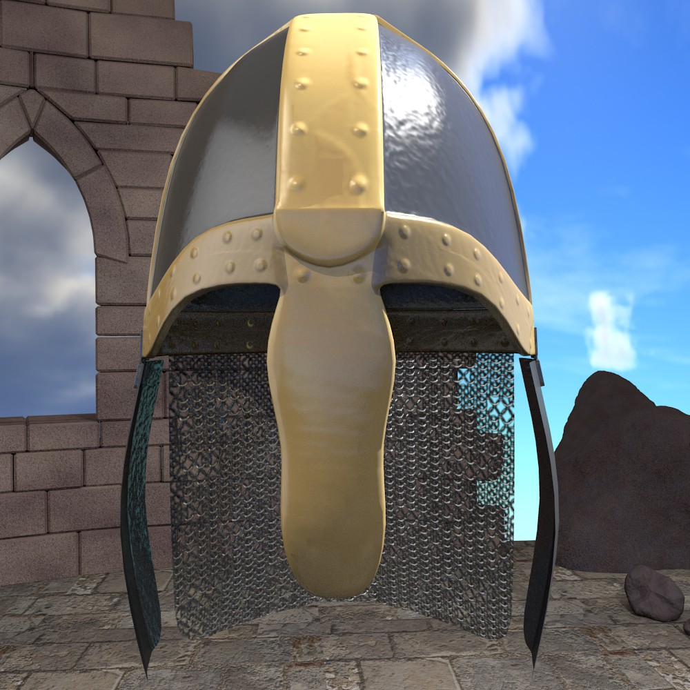 medieval knight helmet 3d model fbx blend dae obj 118788