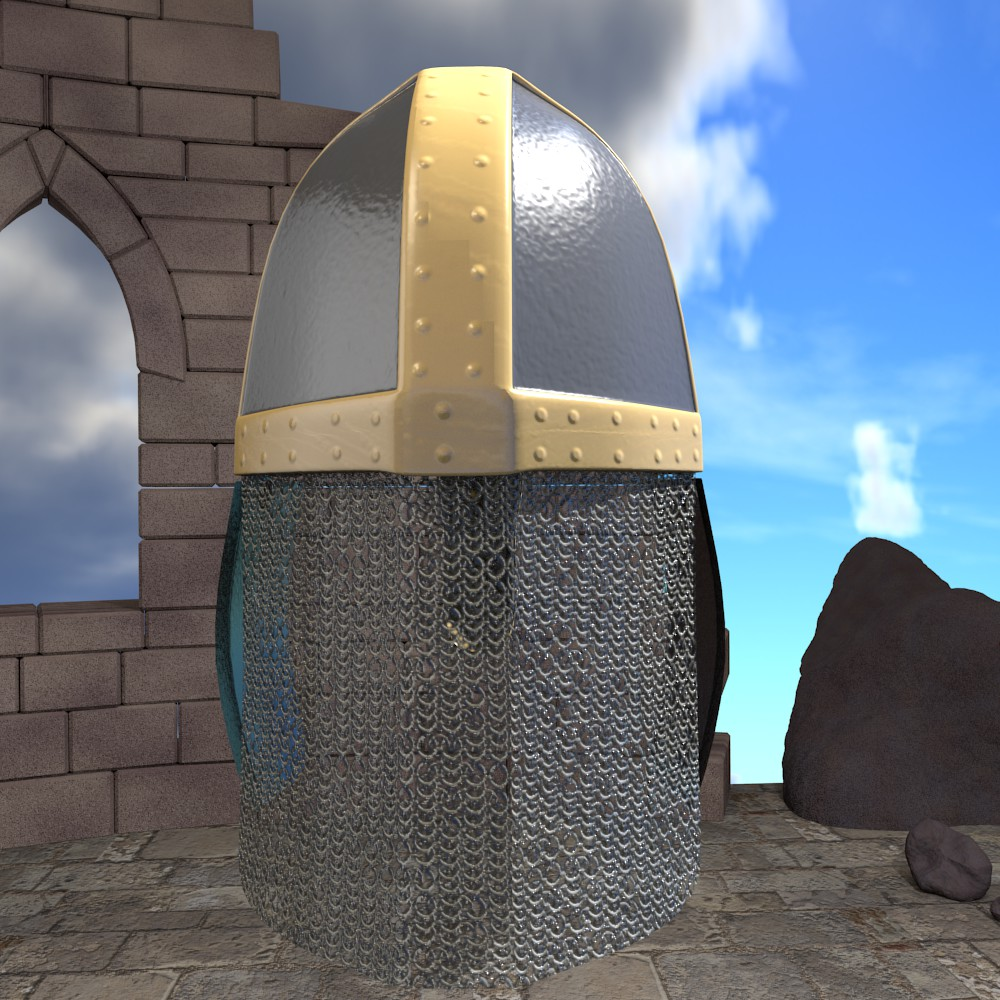 medieval knight helmet 3d model fbx blend dae obj 118790