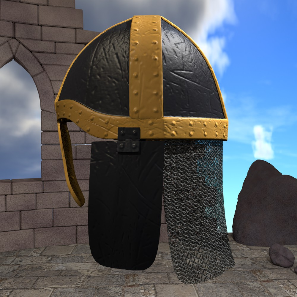 medieval knight helmet 3d model fbx blend dae obj 118792