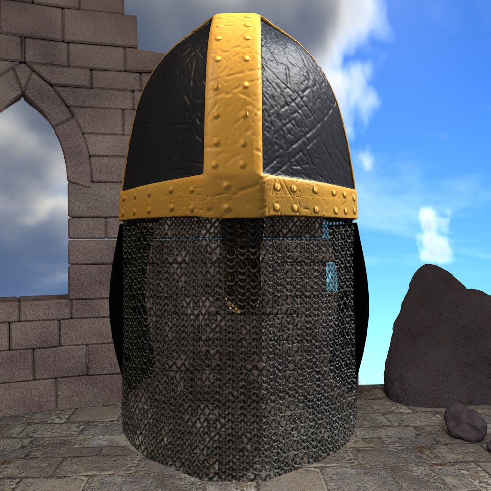 medieval knight helmet 3d model fbx blend dae obj 118793