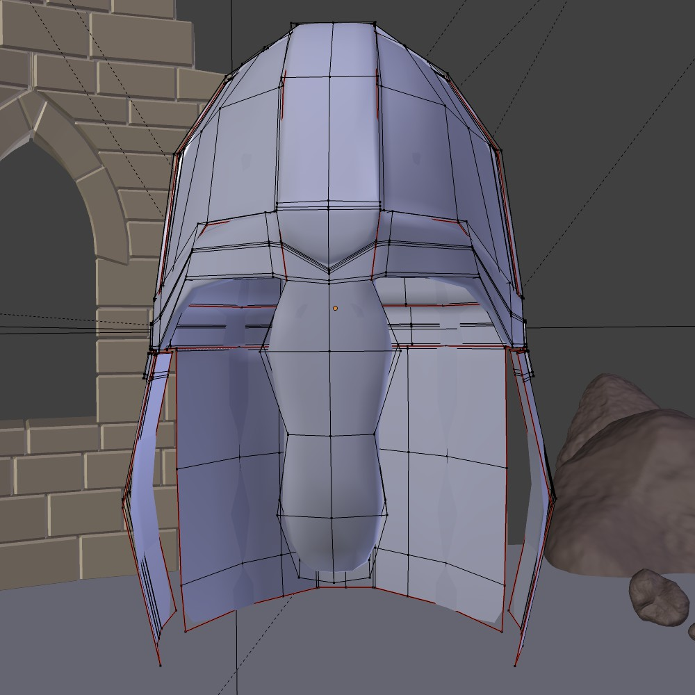 medieval knight helmet 3d model fbx blend dae obj 118794