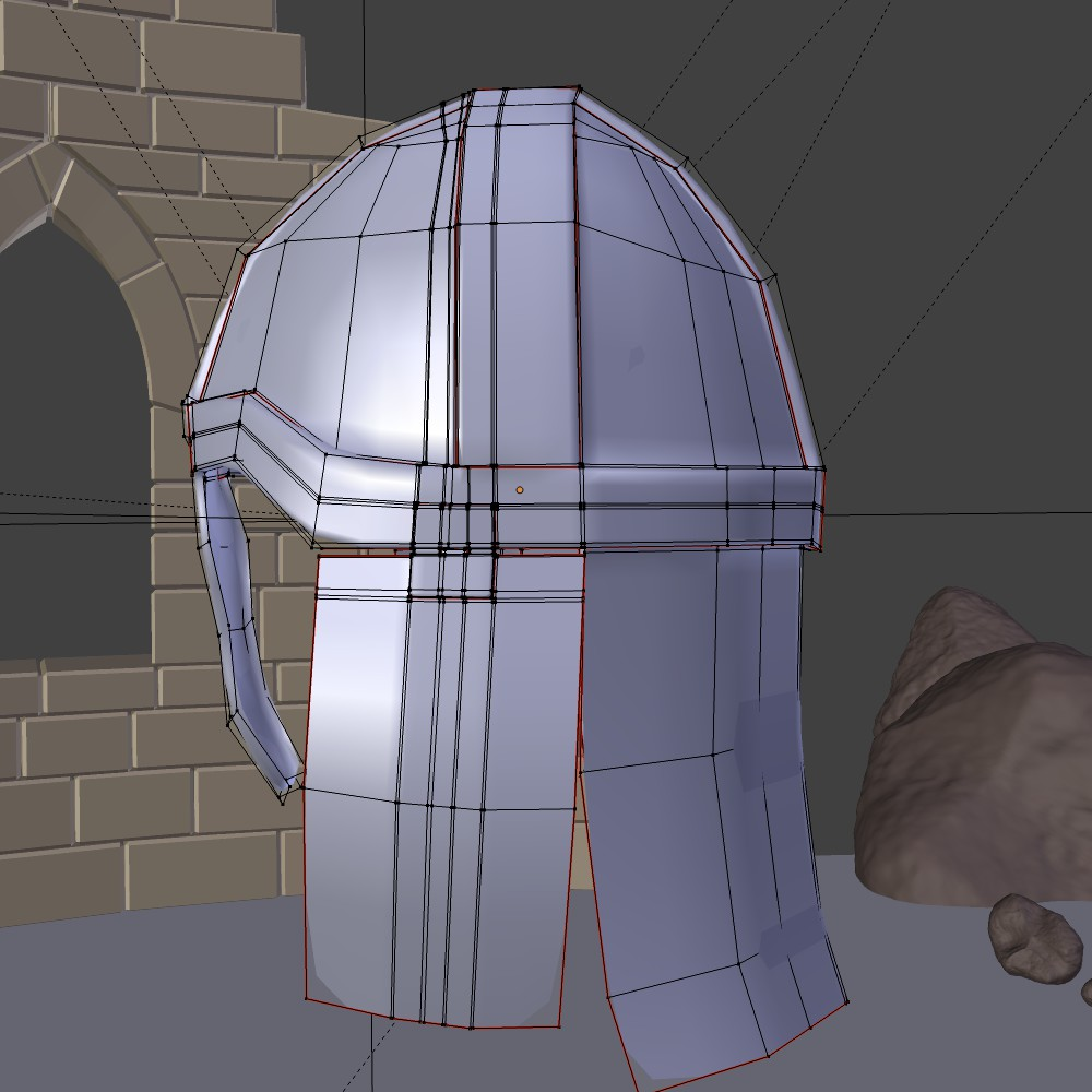 medieval knight helmet 3d model fbx blend dae obj 118795