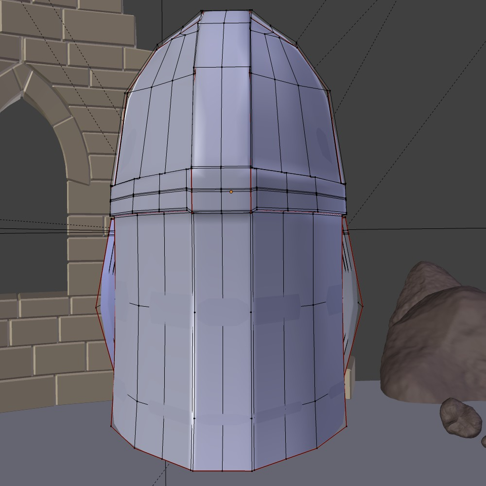medieval knight helmet 3d model fbx blend dae obj 118796