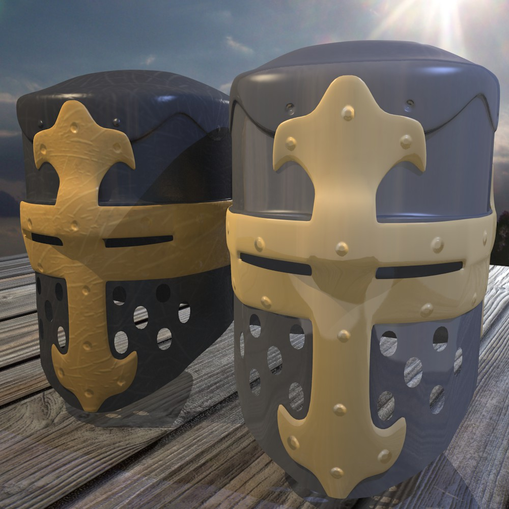 norman knight helmet 3d model fbx blend dae obj 118369