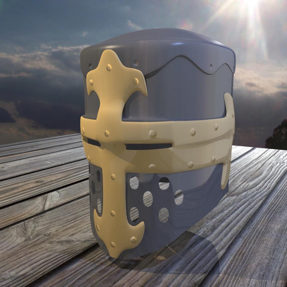 norman knight helmet 3d model fbx blend dae obj 118370