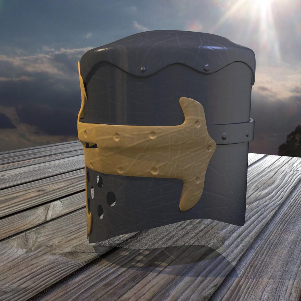 norman knight helmet 3d model fbx blend dae obj 118371
