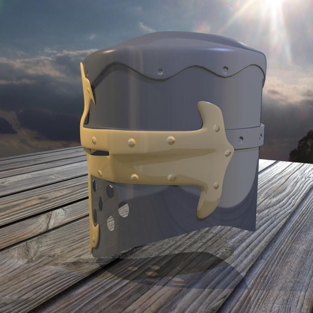 norman knight helmet 3d model fbx blend dae obj 118372